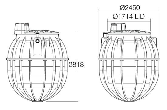 6000ltr Ubi Aqua Tank wireframe